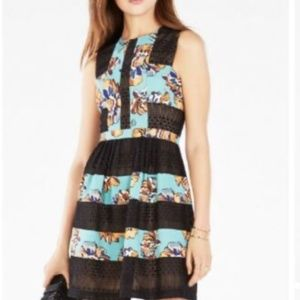 "BCBG MAXAZRIA Dress ""Cecile"", black/turquose pri n"